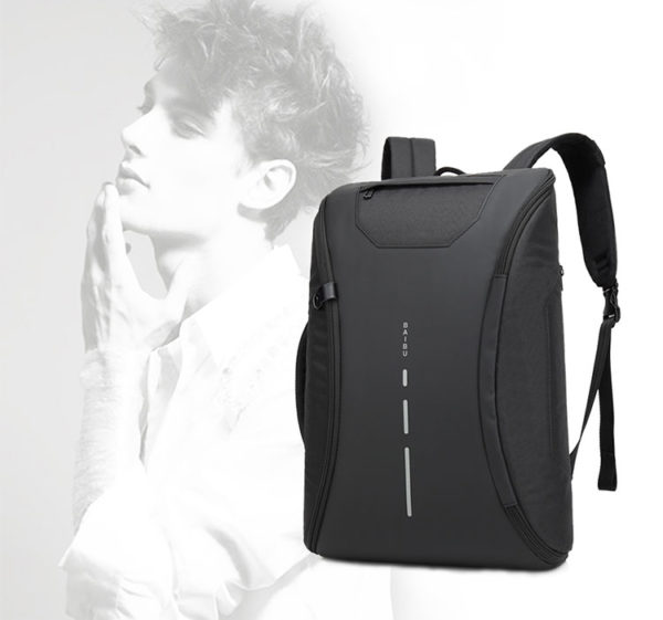 anti theft backpack 180 degree open