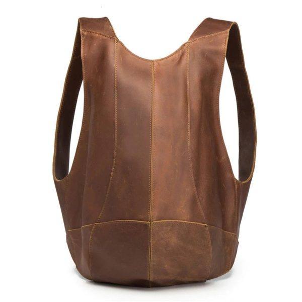 Anti-theft Backpack genuine leather 1
