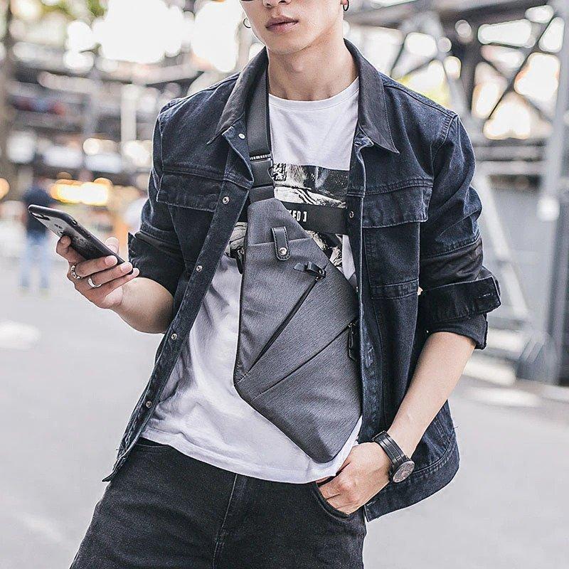 Men's Anti theft Fashion crossbody Backpack1