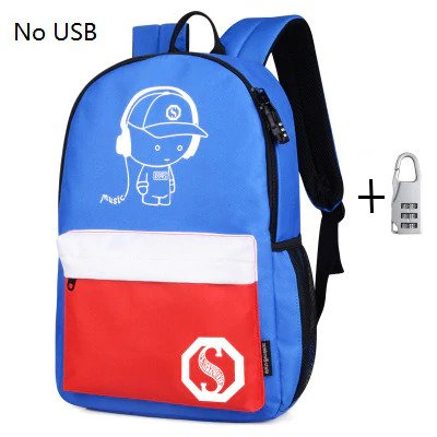 Anti theft Luminous Animation backpack 11