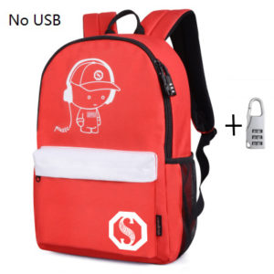 Anti theft Luminous Animation backpack 12
