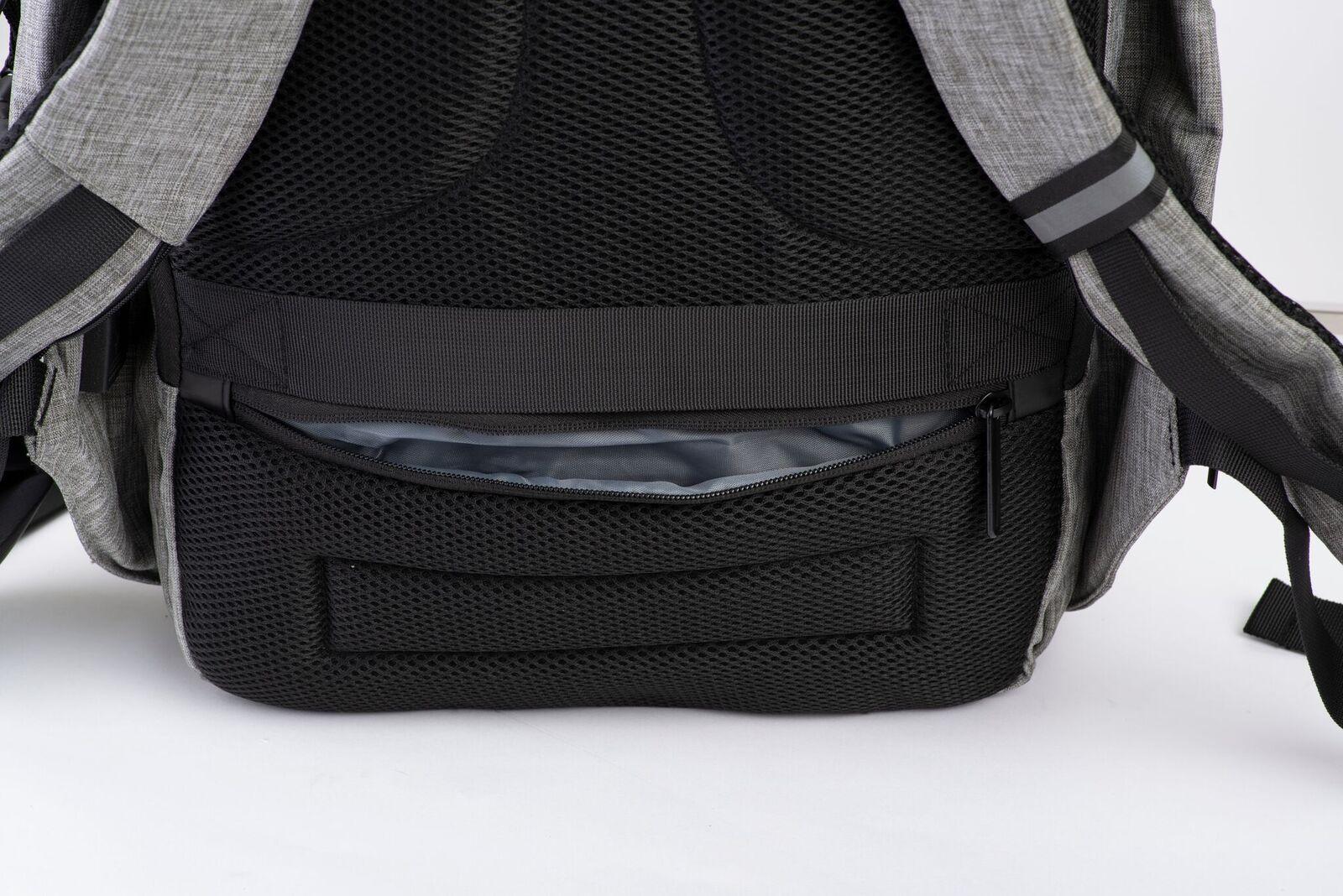 back view of snug backpack zipper