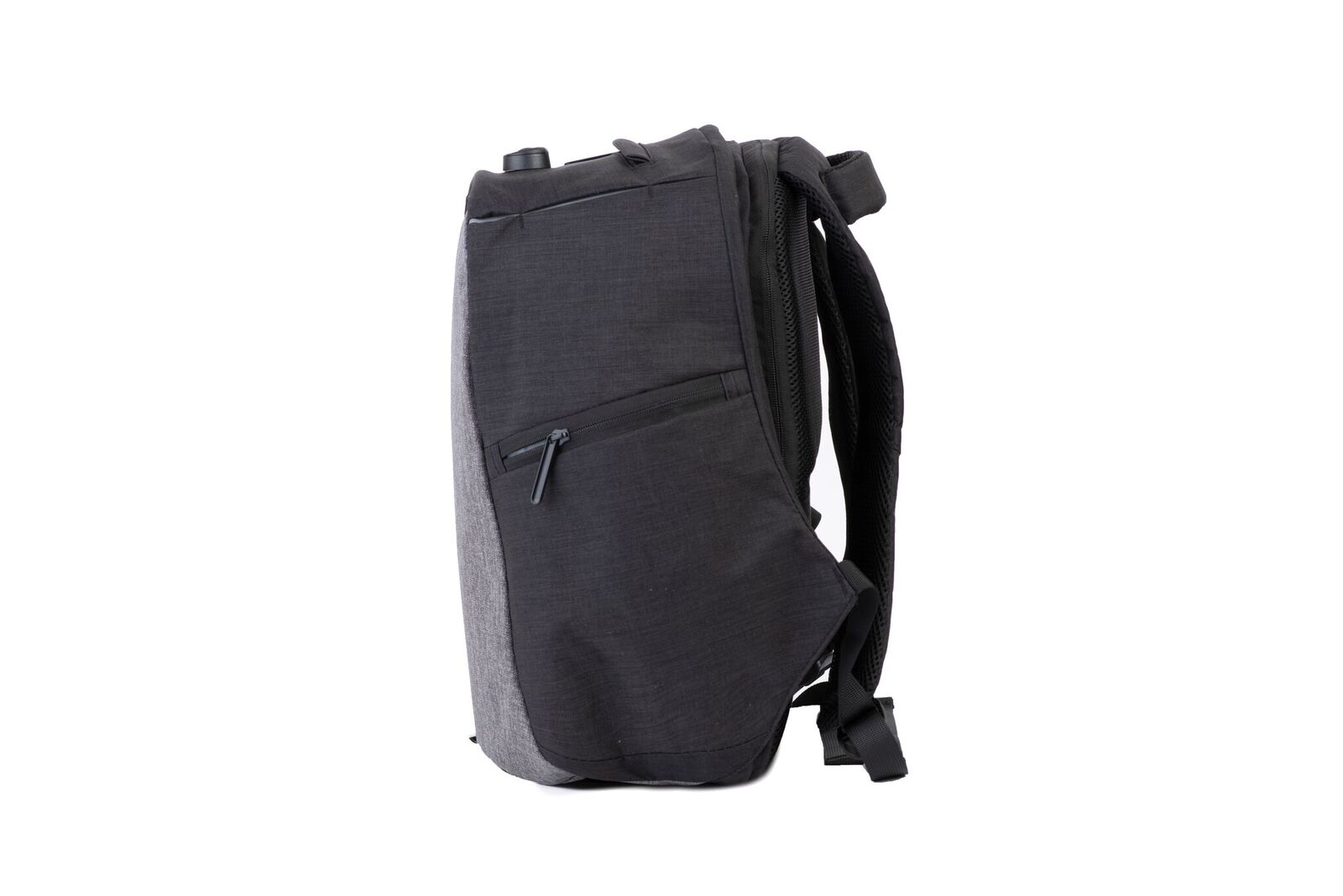 side view of snug backpack
