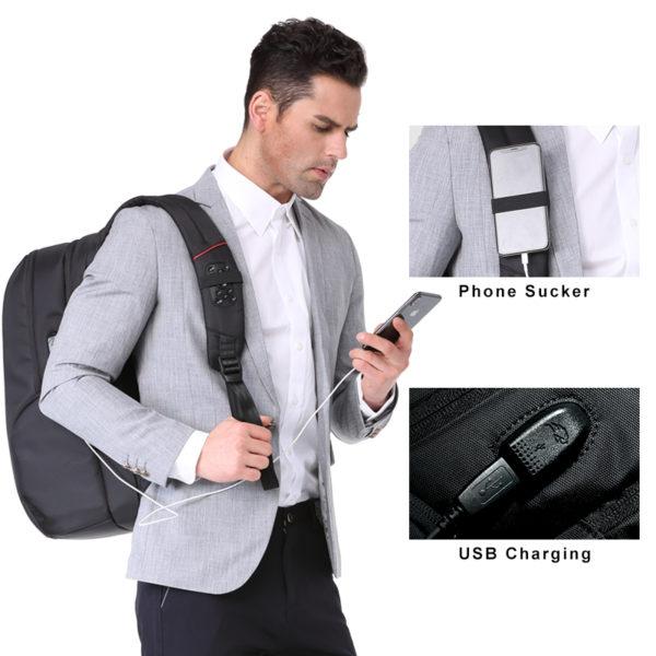 Anti theft Backpack unisex -- 2