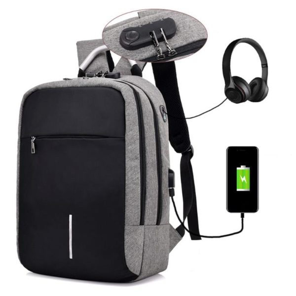 """Anti-theft backpack -15.6"""" 2"""