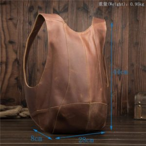 Anti-theft Backpack genuine leather 2
