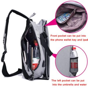 Men's anti theft triangle crossbody Backpack2