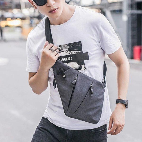 Men's Anti theft Fashion crossbody Backpack2