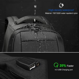"Anti theft multi USB backpack – 15.6"" 2"
