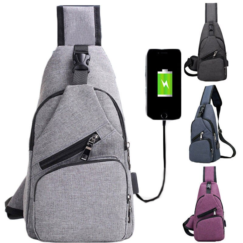 Anti theft Crossbody Backpack grey-black - 2