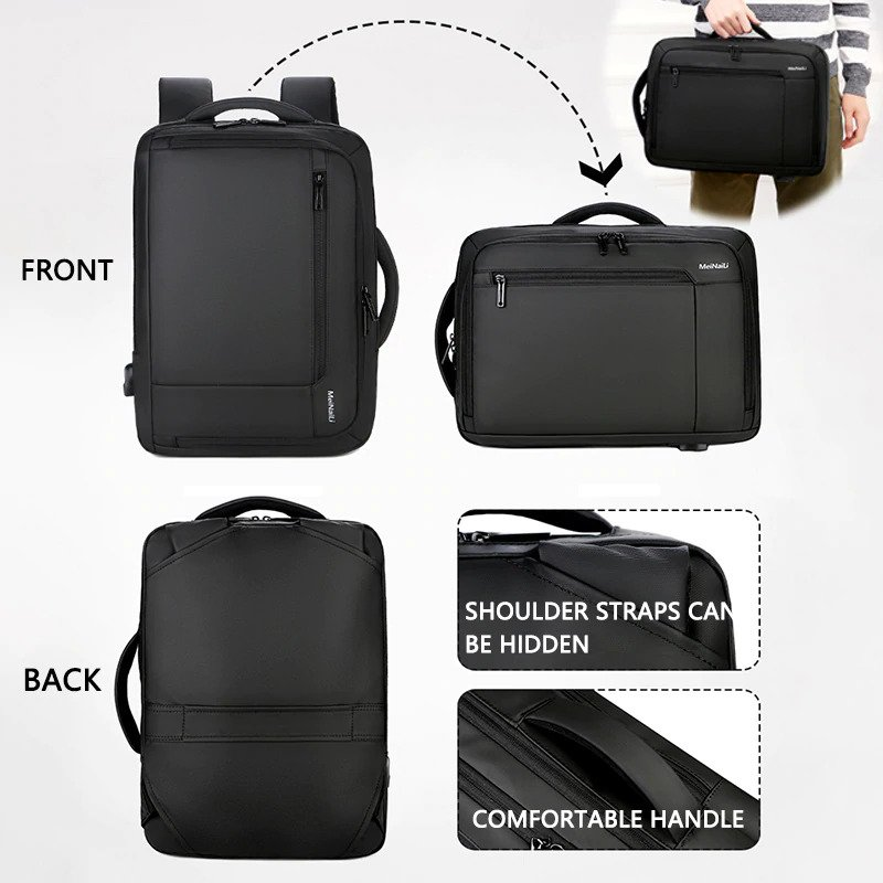 "Anti-theft multifunction backpack - 15.6"" 2"