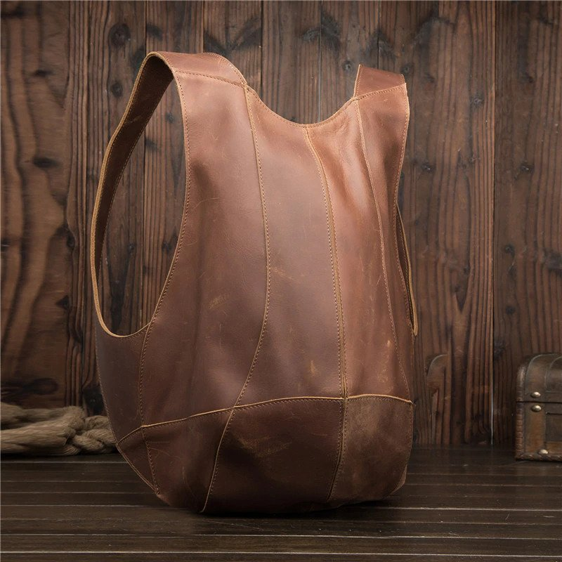 Anti-theft Backpack genuine leather 3
