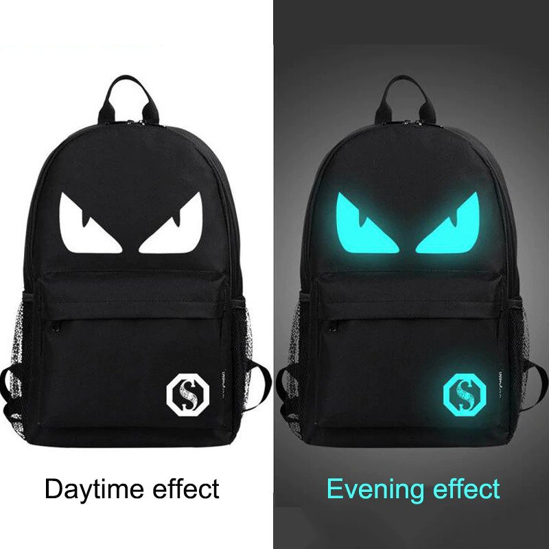 Anti theft Luminous Animation backpack 3
