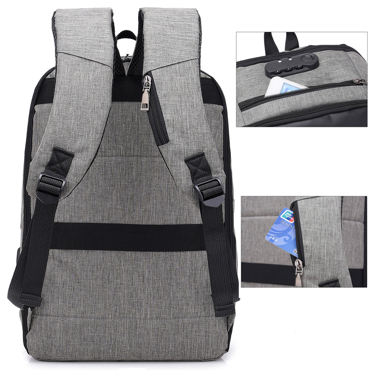 "Men's Anti theft backpack - 15"" - 3"