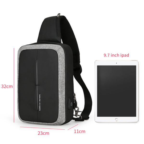 Anti theft Crossbody Backpack 1 -- 1-3