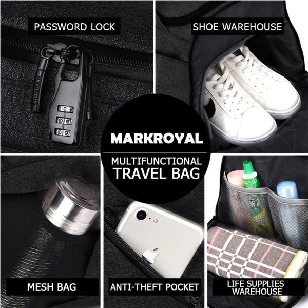 Anti theft multifunctional backpack - -1 -- 3
