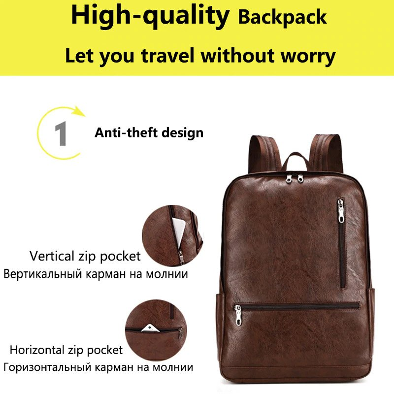 "Men's Anti theft Backpack - 15.6"" 4"