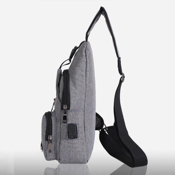 Anti theft Crossbody Backpack grey-black - 4