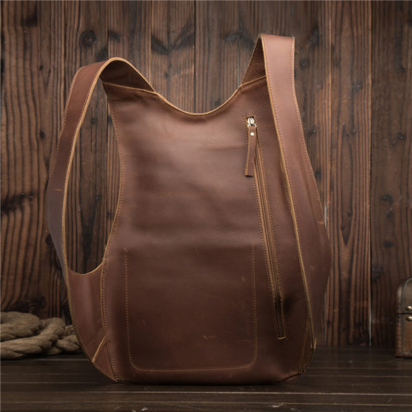 Anti-theft Backpack genuine leather 5