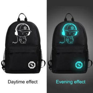 Anti theft Luminous Animation backpack 5