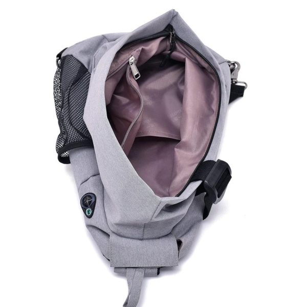Men's anti theft triangle crossbody Backpack5