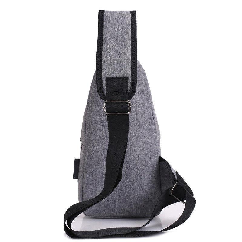 Anti theft Crossbody Backpack grey-black - 5