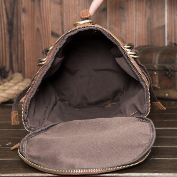 Anti theft Leather Backpack --- 5