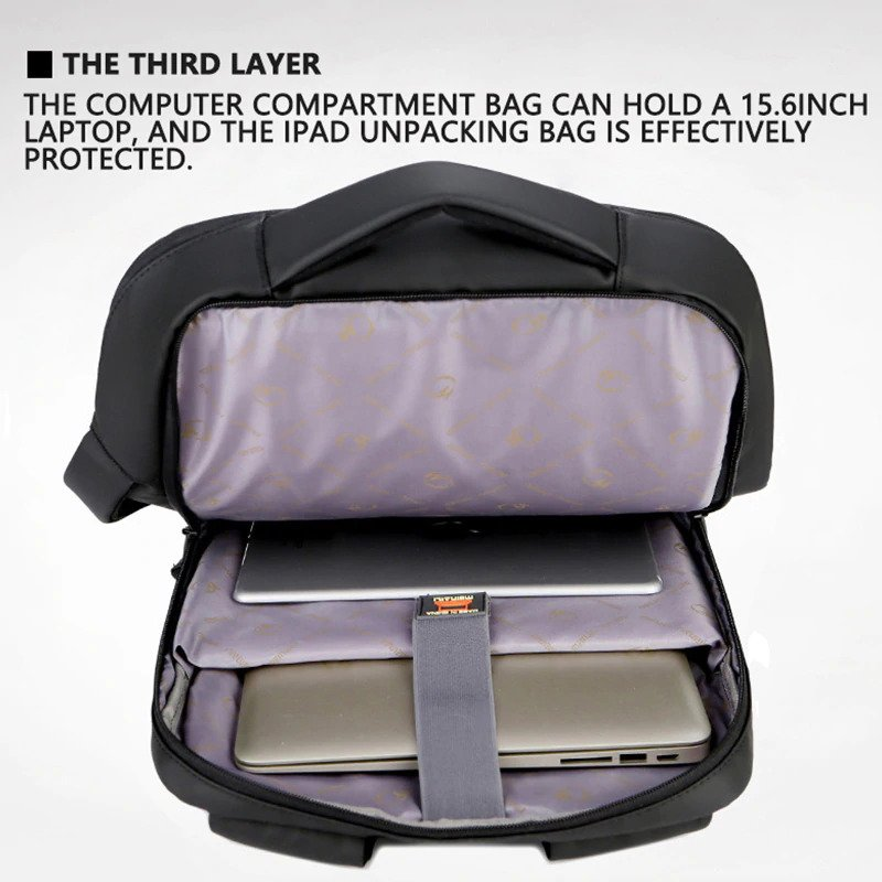 """Anti-theft multifunction backpack - 15.6"""" 5"""