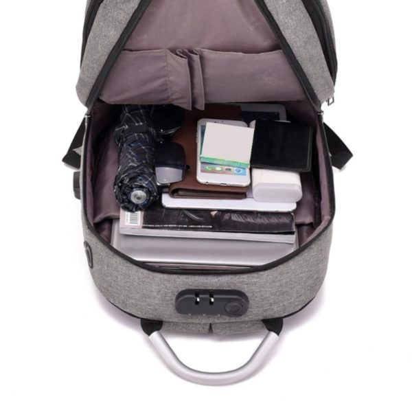 """Anti-theft backpack -15.6"""" 6"""