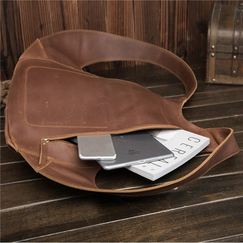 Anti-theft Backpack genuine leather 6