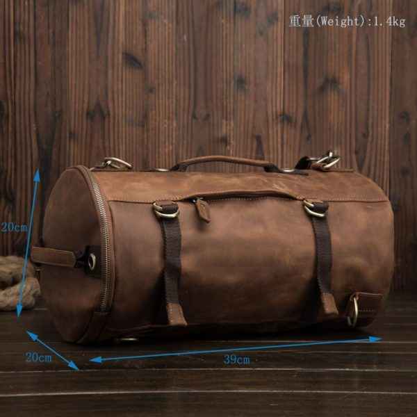 Anti theft Leather Backpack --- 6