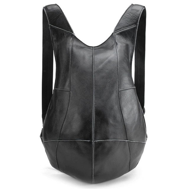 Anti-theft Backpack genuine leather 7