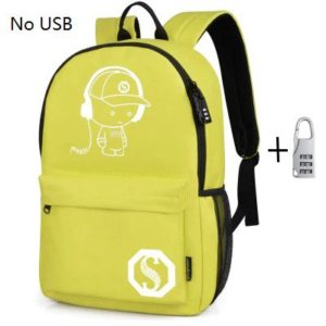 Anti theft Luminous Animation backpack 7