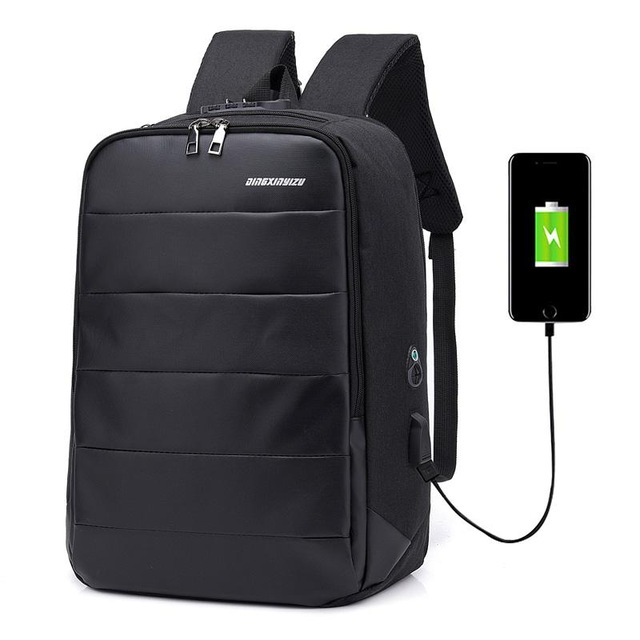 "Men's Anti theft backpack - 15"" - 7"