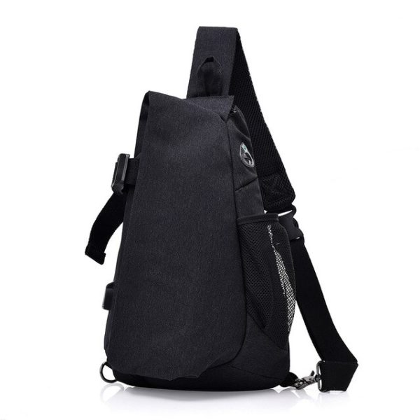 Men's anti theft triangle crossbody Backpack7