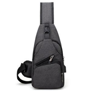 Anti theft Crossbody Backpack grey-black - 7