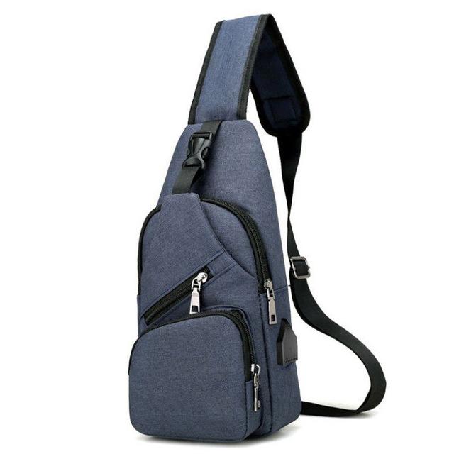 Anti theft Crossbody Backpack grey-black - 8