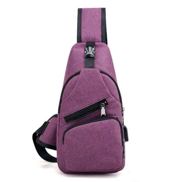 Anti theft Crossbody Backpack grey-black - 9